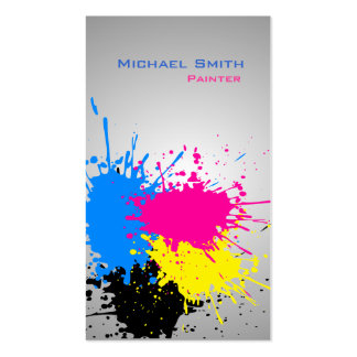 Modern splash professional paint business Double-Sided standard business cards (Pack of 100)