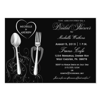 Modern Spoon & Fork Bridal Shower Invitations
