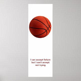 Modern Sport Motivational Quote Basketball Poster