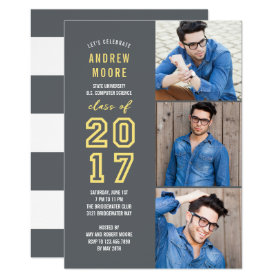 Modern Sporty EDITABLE COLOR Graduation Invitation
