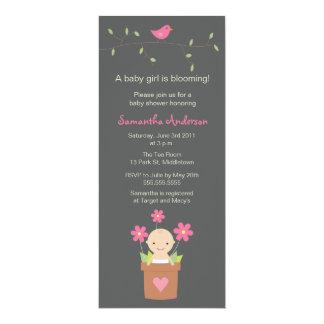 Modern Spring Baby Shower Inviation - Girl Card