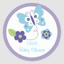 Modern Spring Butterfly Envelope Seals Stickers