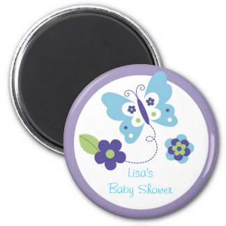 Modern Spring Butterfly Party Favor Magnets