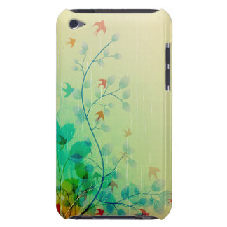 Modern Spring Floral Abstract Art iPod Touch Cover
