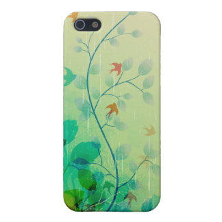 Modern Spring Floral Abstract Art Cover For iPhone 5