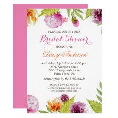 Modern Spring Floral Decor Wedding Bridal Shower Card at Zazzle