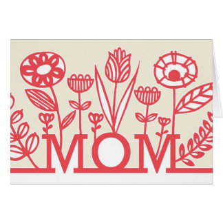 Modern Spring Floral Mother s Day Card