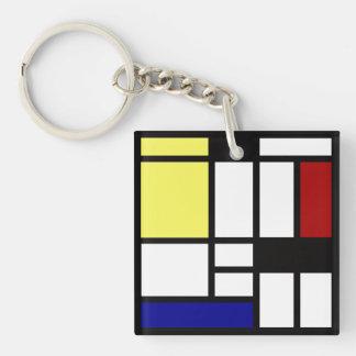 Modern Square Art Keychain