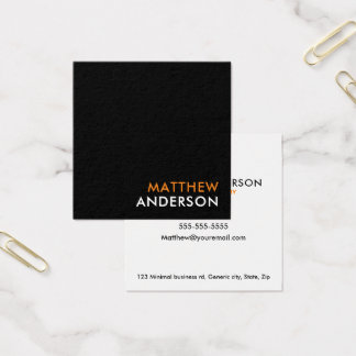 Modern, square business cards - black and white