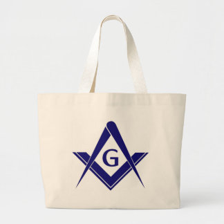 Modern Square & Compasses Canvas Bags