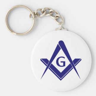 Modern Square & Compasses Keychain