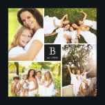 "Modern Square Family Monogram Photo Collage Canvas<br><div class=""desc"">Designed by fat*fa*tin. Easy to customize with your own text,  photo or image. For custom requests,  please contact fat*fa*tin directly. Custom charges apply.  www.zazzle.com/fat_fa_tin www.zazzle.com/color_therapy www.zazzle.com/fatfatin_blue_knot www.zazzle.com/fatfatin_red_knot www.zazzle.com/fatfatin_mini_me www.zazzle.com/fatfatin_box www.zazzle.com/fatfatin_design www.zazzle.com/fatfatin_ink</div>"