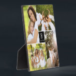 """Modern Square Family Monogram Photo Collage Plaque<br><div class=""""desc"""">Designed by fat*fa*tin. Easy to customize with your own text,  photo or image. For custom requests,  please contact fat*fa*tin directly. Custom charges apply.  www.zazzle.com/fat_fa_tin www.zazzle.com/color_therapy www.zazzle.com/fatfatin_blue_knot www.zazzle.com/fatfatin_red_knot www.zazzle.com/fatfatin_mini_me www.zazzle.com/fatfatin_box www.zazzle.com/fatfatin_design www.zazzle.com/fatfatin_ink</div>"""