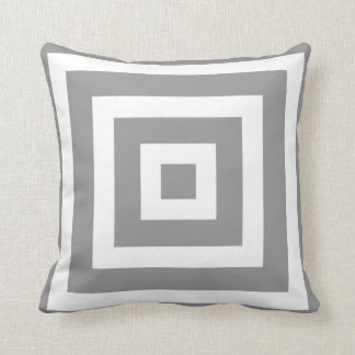 Modern Square Pattern in Grey and White Pillows