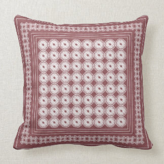 Modern Squares Lace and Polka Dots Pillow