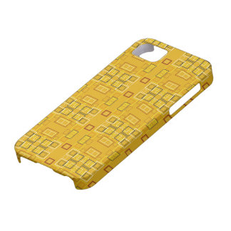 Modern squares mosaic pattern yellow iPhone 5 covers