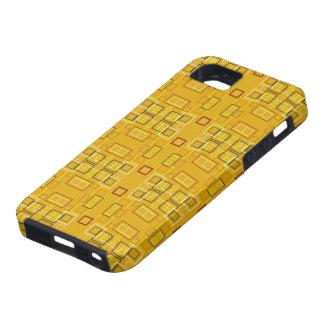 Modern squares mosaic pattern yellow iPhone 5 case