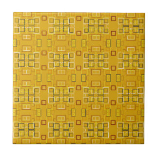 Modern squares mosaic pattern yellow small square tile