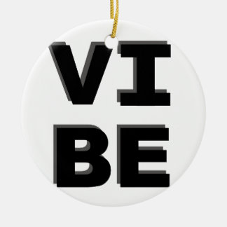 Modern Stacked VIBE Print Ceramic Ornament