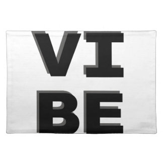 Modern Stacked VIBE Print Cloth Placemat