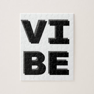Modern Stacked VIBE Print Jigsaw Puzzle