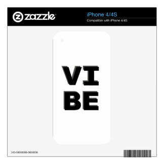 Modern Stacked VIBE Print Skin For iPhone 4