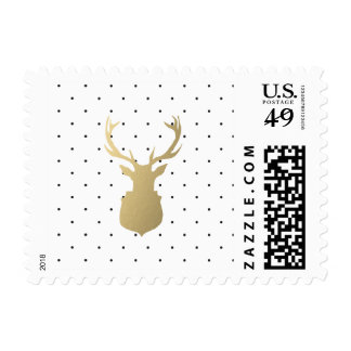Modern Stag   Holiday Postage