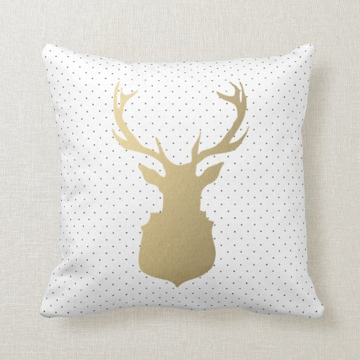 Modern Stag Holiday Throw Pillow Zazzle