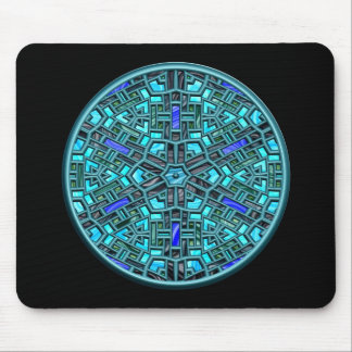 modern stained glass mouse pad