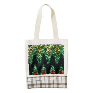 Modern stained glass zazzle HEART tote bag
