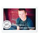 "Modern Stamp Photo Graduation Party Announcement 5"" X 7"" Invitation Card"