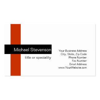 Modern Standard Red Black White Business Card