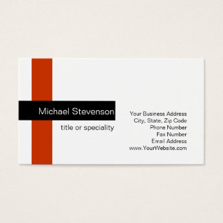Modern Standard Red Black White Business Card