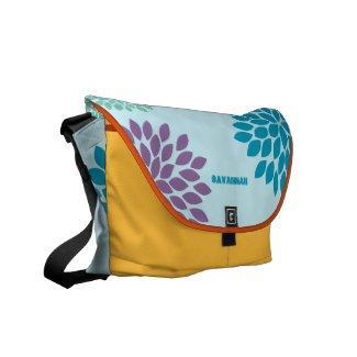 Modern Star Burst Floral Messenger-choose colors rickshaw_messengerbag