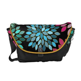 Modern Star Burst Flower Commuter Bag Courier Bag