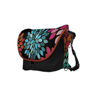 Modern Star Burst Flower Commuter Bag Messenger Bag