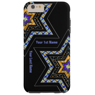 Modern Star of David (Personalized) Tough iPhone 6 Plus Case