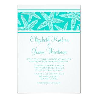 Modern Starfish Wedding Invitations Personalized Invites