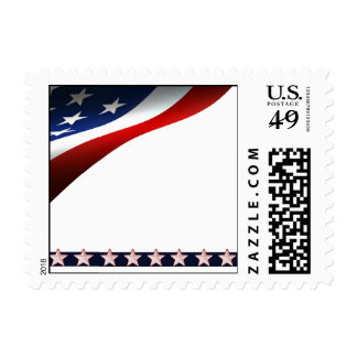 Modern Stars and Stripes Forever Flag Memorial Day Postage Stamps