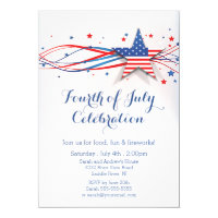 Modern Stars & Stripes 4th of July Invitation