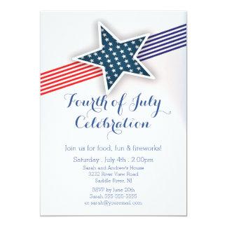 Modern Stars & Stripes 4th of July Invitation