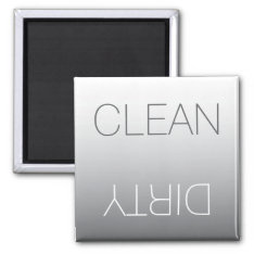 Modern Steel Gray Clean Or Dirty Dishwasher Magnet at Zazzle