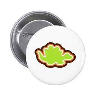 Modern Stegosaurus Pinback Buttons