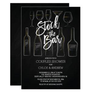 stock the bar invitations zazzle