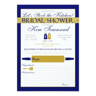 Modern Stock the Kitchen Bridal Shower Invites