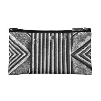 Modern Stone Geometric Black & White Photo Pattern Cosmetic Bag