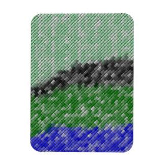 Modern strange pattern rectangular photo magnet