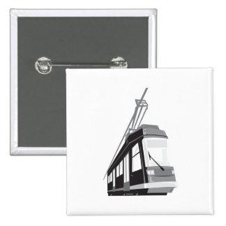 Modern Streetcar Tram Train Pin