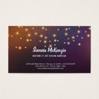 Modern string lights business card