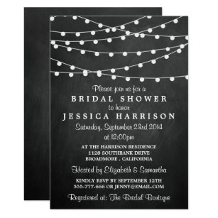 Chalkboard Bridal Shower Invitations Announcements Zazzle